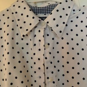 Chaos Ralph Lauren white navy no iron shirt  pm m